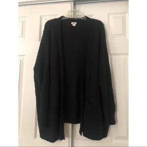Mossimo Supply Co. black chunky cardigan Size L